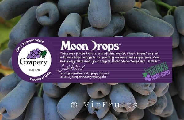 Nho moon drop mỹ - Vinfruits