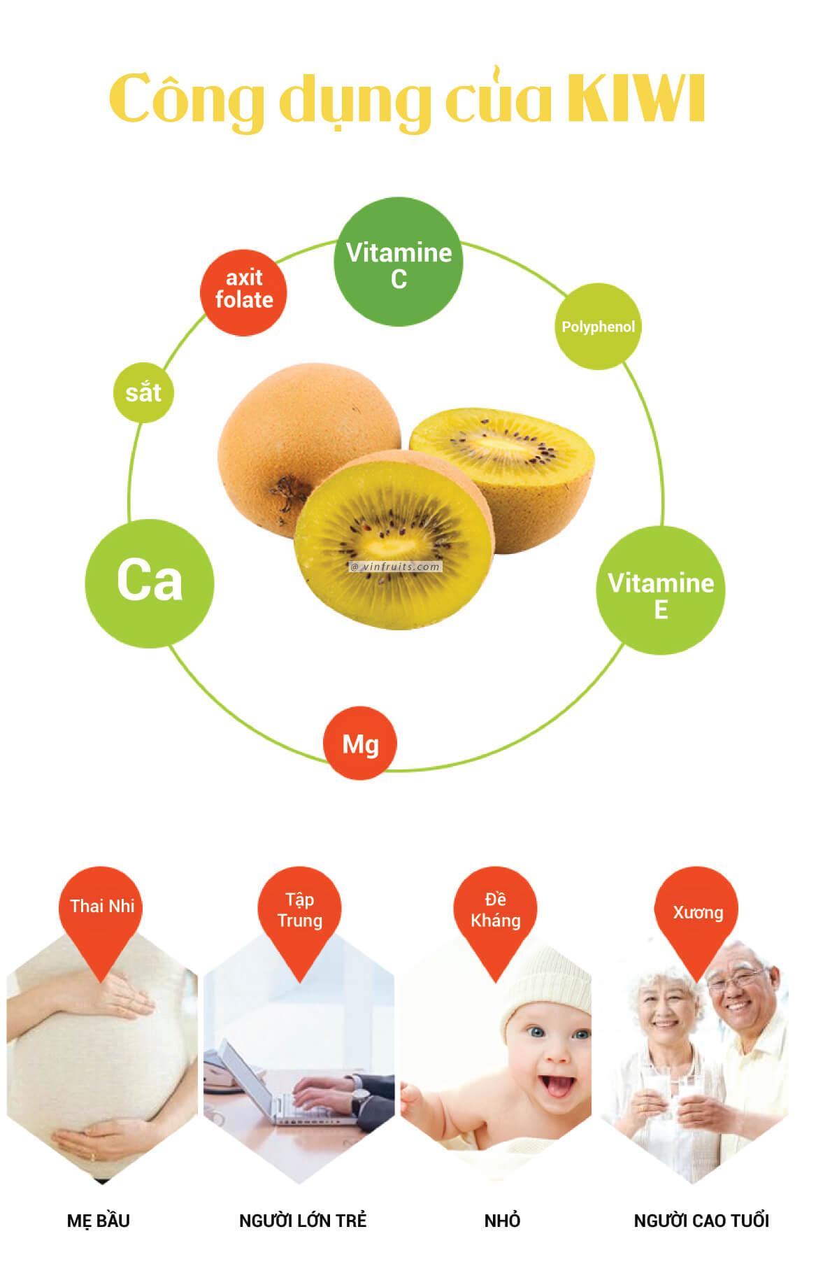 Dinh duong qua kiwi vang - vinfruits