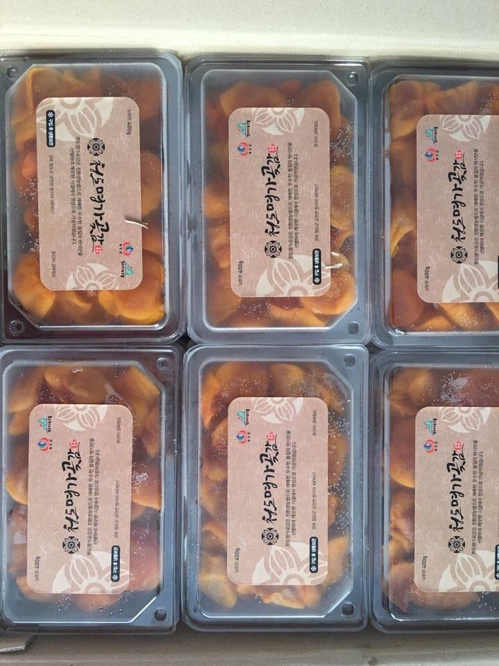 Hồng dẻo thái lát Hàn Quốc - Vinfruits.com