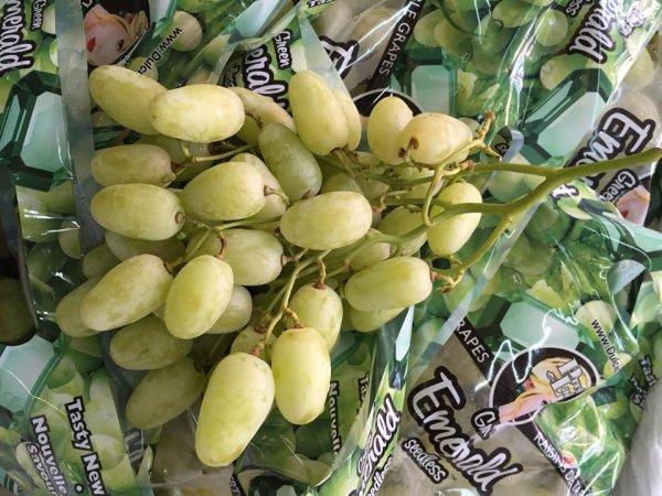 Nho xanh Green Emerald Seedless - Mỹ - Vinfruits.com