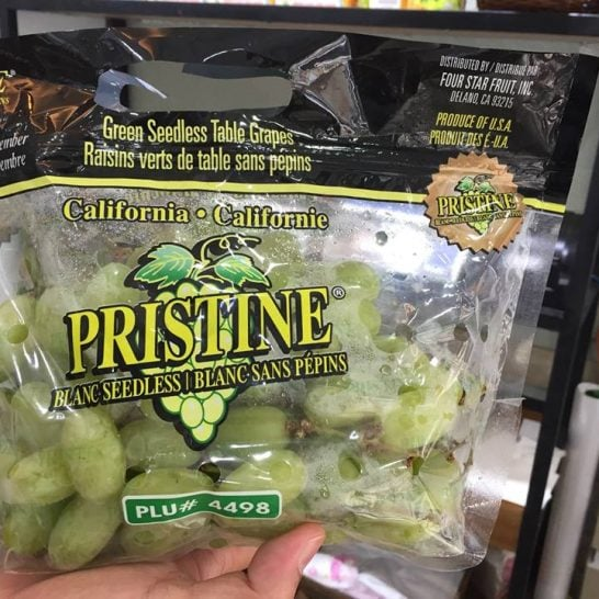 Nho xanh Pristine Mỹ - Vinfruits.com