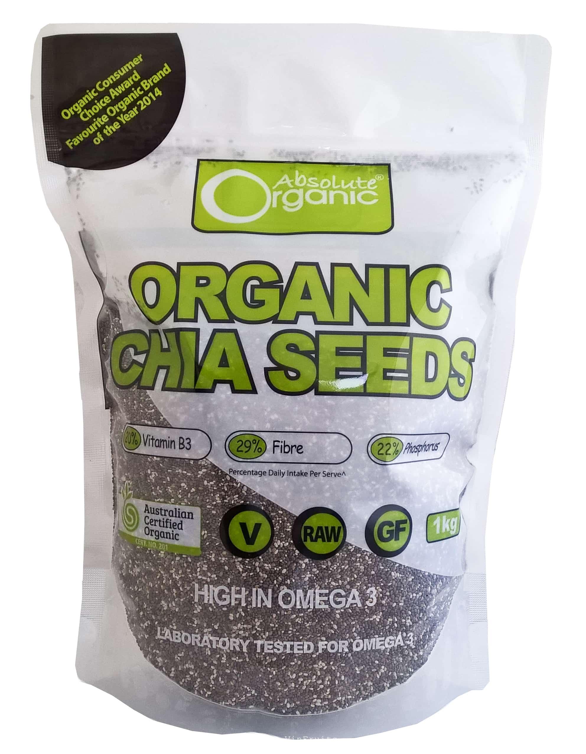 Hạt chia đen Absolute Organic Úc - Vinfruits