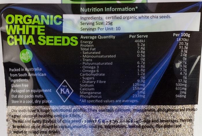8. Hạt chia Absolute organic 250g 1