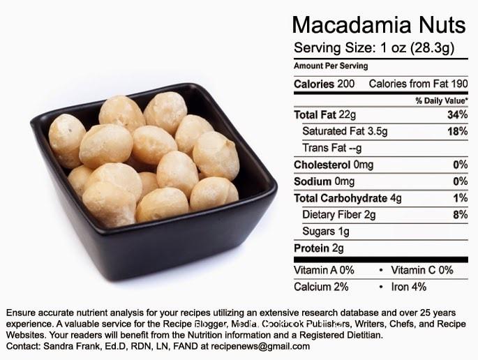 Giá trị dinh dưỡng của hạt macca - Vinfruits