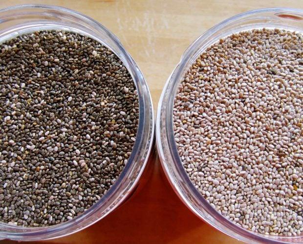 Hạt chia trắng và hạt chia đen - Vinfruits