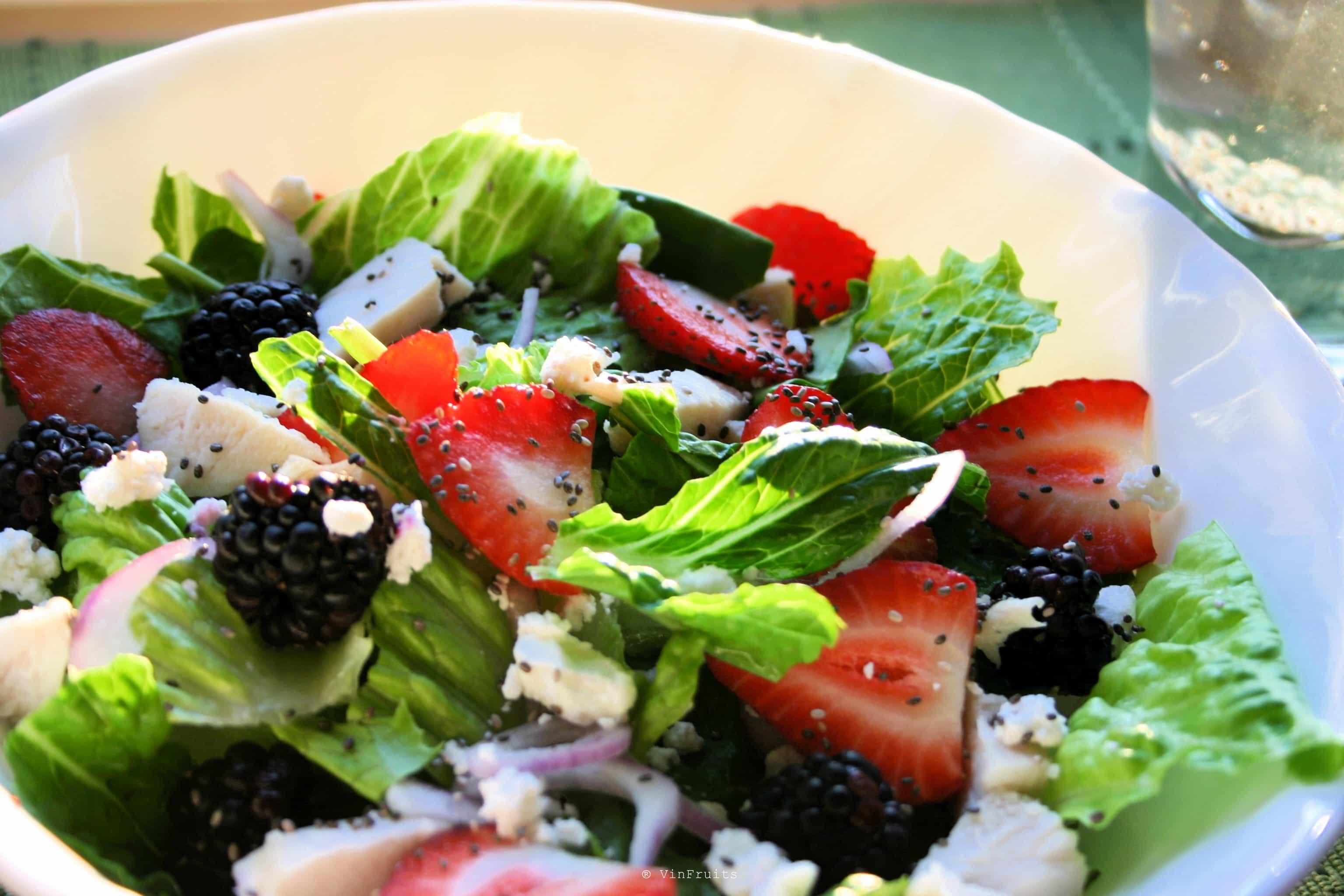 Món salad với hạt chia 1 - Vinfruits