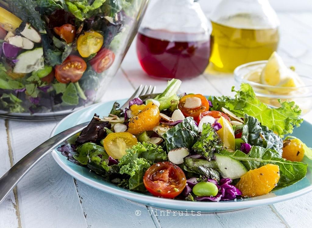 Món salad với hạt chia - Vinfruits