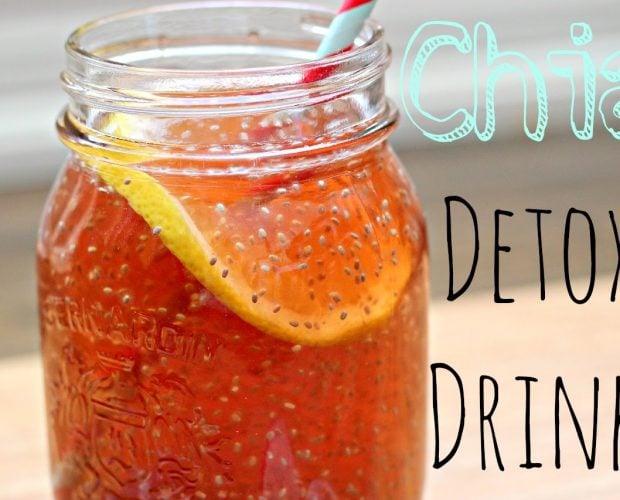 Nước detox với hạt chia - Vinfruits