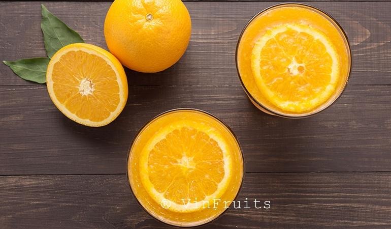 Bà bầu nên uống nước cam vào lúc nào - Vinfruits