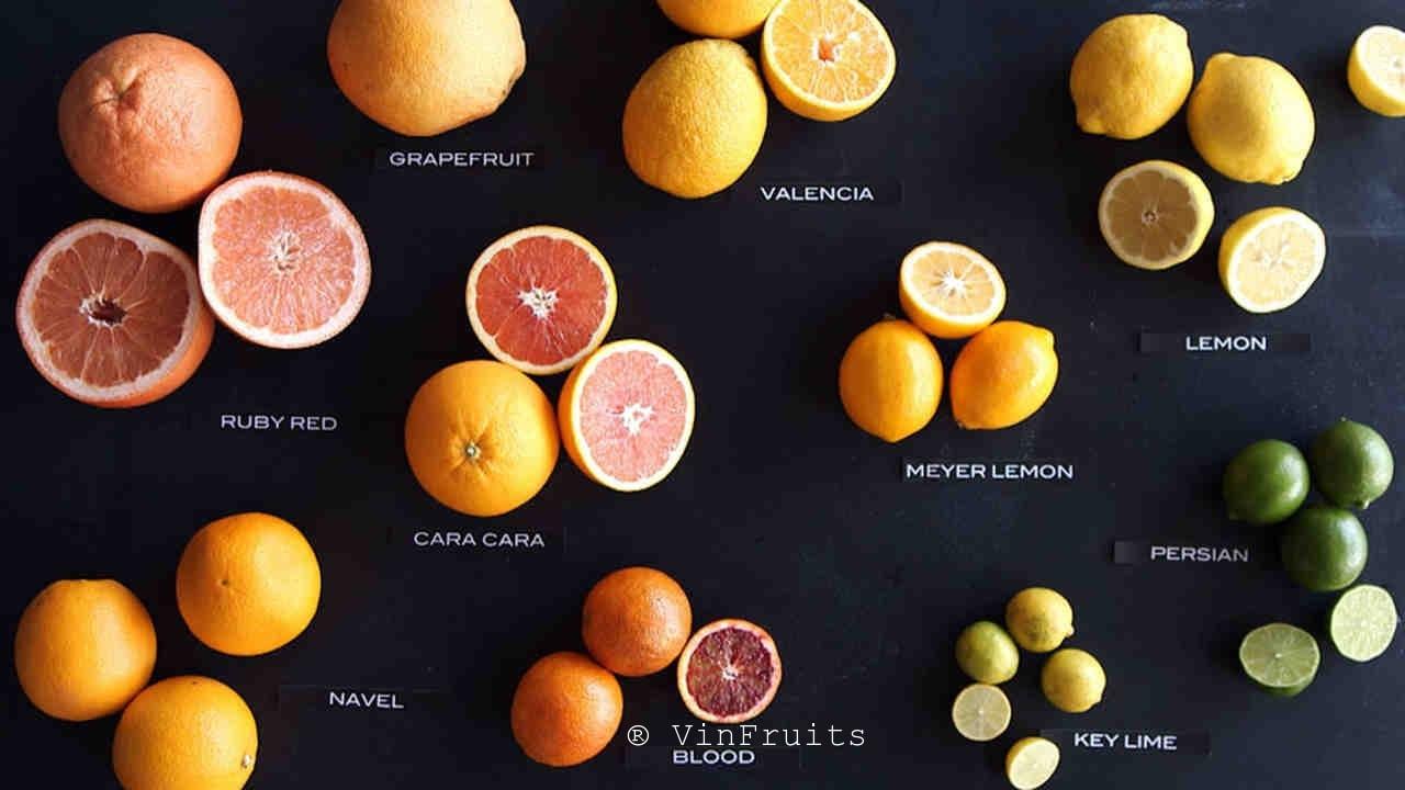 Cam ruột đỏ Cara với các loại cam khác - Vinfruits