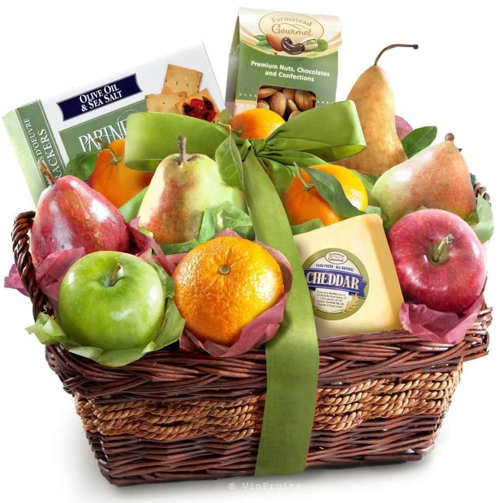 Mẫu giỏ quà tết mang lại phú quý cho người được tặng - Vinfruits