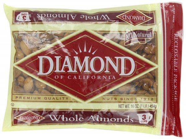 HẠNH NHÂN TẨM BƠ DIAMOND MỸ 453G 1 - Vinfruits