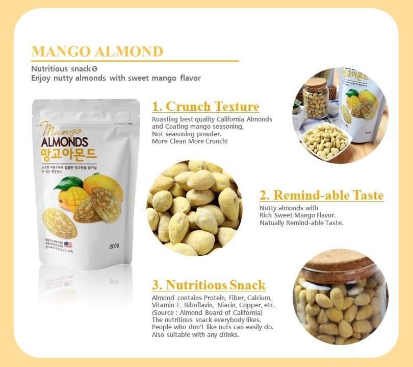 Hạnh Nhân Xoài Mango Almonds Hàn Quốc - VinFruits