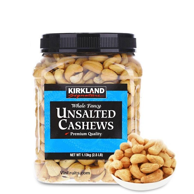 Hat dieu khong muoi Kirkland - vinfruits.com 2